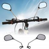 Oglinda retrovizoare bicicleta, cu banda reflectorizanta, clema fixare, rotire 360 grade, set 2 bucati, ProCart