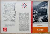 """Cabana Diham-Bucegi.Pliant turistic ONT """"Carpati"""".Cabane anii '60."""