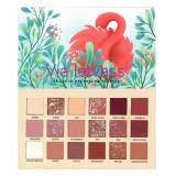 Paleta Profesionala de Farduri Flamingo Via Letvass 18 Color Eyeshadow Palette 18 x 1.5 g