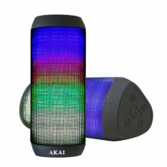 Boxa activa portabila akai cu bluetooth si led-uri output:2x3w compatibilitate: mp3 mp4 pc mid tv