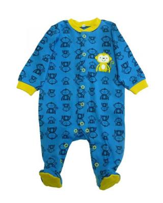 Salopeta / Pijama bebe cu maimute Z66 foto