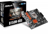 Placa de baza ASROCK Socket LGA1151, B150M-HDS, B150, 2*DDR4 2133MHz ,HDMI/DVI, 1*PCIEx16, 1*PCIEx1, 4*SATA3, 8CH, GigabitLAN, 2*USB3.0, bulk
