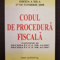 CODUL DE PROCEDURA FISCALA 2008