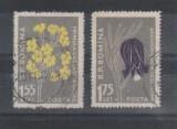 """Flora carpatina LP 432b Eroare """"M"""" 1,55 lei si 1,75 lei stampilate"""