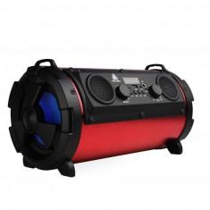 Boxa portabila cilindru bluetooth 4 difuzoare 15w mp3 radio usb super-bass