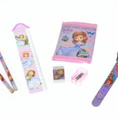 Set ceas pentru copii cu Sofia + portofel, creioane, ascutitoare si guma - COCO8011604