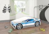 Set Pat Tineret 160x80 Speed Race Car Politie + Saltea