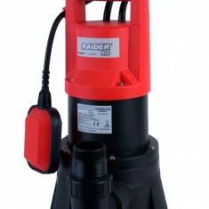 Pompa submersibila cu plutitor pentru ape uzate 1300 W Raider Power Tools
