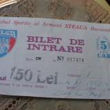CLUB SPORT STEAUA - BILET INTRARE  tribuna 1 . 4-XI-1992 =ZIUA LUI PUF