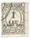România, LP IV.15a/1930, Taxă de plată, supr. 8 IUNIE 1930, eroare, obl.