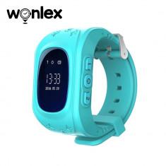 Ceas Smartwatch Pentru Copii Wonlex Q50 cu Functie Telefon, Localizare GPS, Pedometru, SOS - Turcoaz, Cartela SIM Cadou