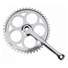 Angrenaj pedalier cu 1 foaie, ax rotund, 46T, YTGT-50054