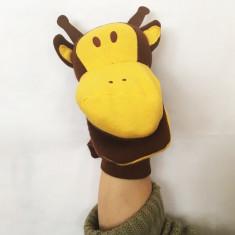 Marioneta teatru de papusi girafa, papusa de mana