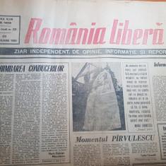 ziarul romania libera 18 ianuarie 1990-mihai eminescu,revolutia romana