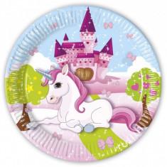 8 Farfurii Party Unicorn 23cm