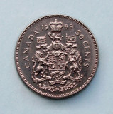 CANADA  🍁  50 Cents 1969  🍁