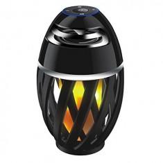 Boxa Wireless Bluetooth Led Flame Speaker, Torch Atmosphere, Lumina galbena