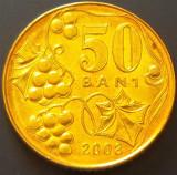 Moneda 50 BANI - Republica MOLDOVA, anul 2008 *cod 4716  --- UNC din FASIC!