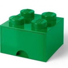 Cutie depozitare LEGO 2x2 cu sertar - Verde (40051734)