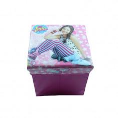 2 in 1 Cutie pentru depozitarea jucariilor si taburet Soy Luna Disney 402270R, Roz