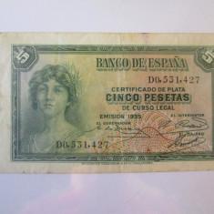 Spania 5 Pesetas 1935