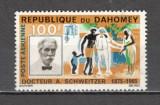 Dahomey.1966 Posta aeriana:A.Schweitzer-medic PREMIUL NOBEL SD.16, Nestampilat
