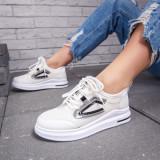 Pantofi sport dama albi cu negru Desilia