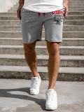 Cumpara ieftin Pantaloni scurți de trening gri bărbați Bolf EX07-1