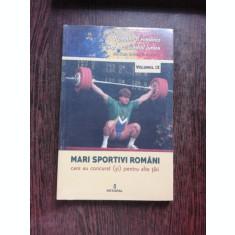 MARI SPORTIVI ROMANI CARE AU CONCURAT SI PENTRU ALTE TARI