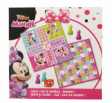 Joc 2 in 1 Minnie - Ludo/Nu te supara, Minnie! + Serpi si scari/Sus-jos cu Minnie