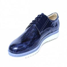 Pantofi dama din piele naturala, Cameleon, Alexin, Albastru, 41 EU