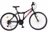 """Bicicleta MTB Vision Steel Man Culoare Negru/Rosu Roata 26"""" OtelPB Cod:202605000305"""