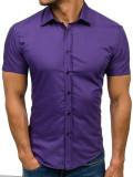 Cumpara ieftin Cămașă elegantă cu mâneca scurtă pentru bărbat violet Bolf 7501, Maneca scurta
