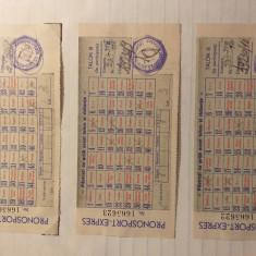 3 Bilete Pronosport 1958