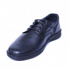 Pantofi barbati din piele naturala, Bruce, Cobra, Negru, 39 EU