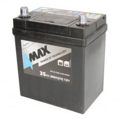 Baterie 4MAX 12V 35Ah 300A (L+ borna subtire (vehicule japoneze) + Borna standard) 178x127x227 B00 - fara flansa montare (Pornire)