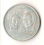 SV * Suedia  50 KRONUR 1978 * CASATORIA lui CARL GUSTAV  XVI cu SILVIA * AG .925, Europa, Argint