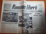 romania libera 14 iunie 1990 - art. si foto mineriada