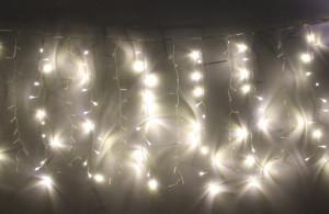 Perdea luminoasa tip turturi 240 LED uri albe lumina calda interconectabila WELL