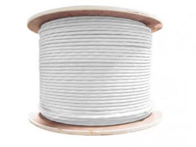 Cablu coaxial cu alimentare 2x05 CUPRU RG59 305 metri Safer foto