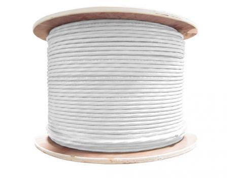 Cablu coaxial cu alimentare 2x05 CUPRU RG59 305 metri Safer