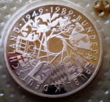 10.020 GERMANIA RFG REPUBLICA 40 ANI ANIVERSARE 10 DEUTSCHE MARK 1989 G PROOF, Europa, Argint