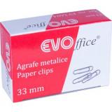 Cumpara ieftin Agrafe Metalice EVOffice 33 mm, 100 Buc/Bax - Clipsuri Hartie