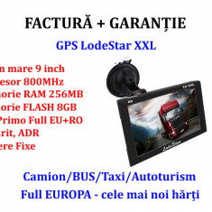 Navigatie GPS 9 inch HD ecran XXL LodeStar Camion/TIR  iGO Primo Full EU+RO 2020