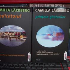 2 CARTI CAMILLA LACKBERG - PRINTESA GHETURILOR + PREDICATORUL , 2010