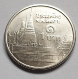 Monedă 1 Baht 2009-2017 Thailanda, km#443, Asia