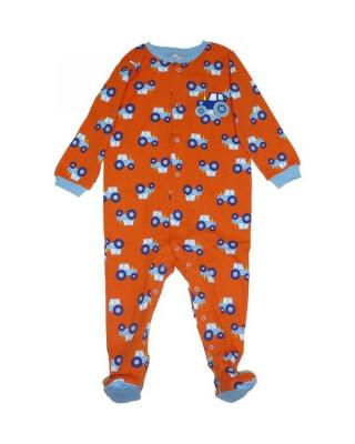 Salopeta / Pijama bebe imprimeu tractorase Z126 foto