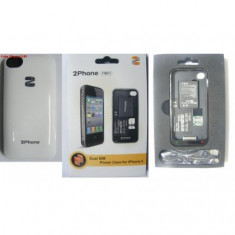 Baterie Externa iPhone 4 FM-01 Dual SIM ALB