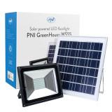 Cumpara ieftin Resigilat : Reflector LED 50W PNI GreenHouse WS55 cu panou solar si acumulator