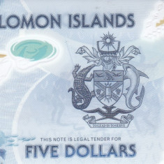 Bancnota Insulele Solomon 5 Dolari (2019) - PNew UNC ( polimer )